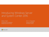 Ignite 2016 Windows Server 2016 System Center