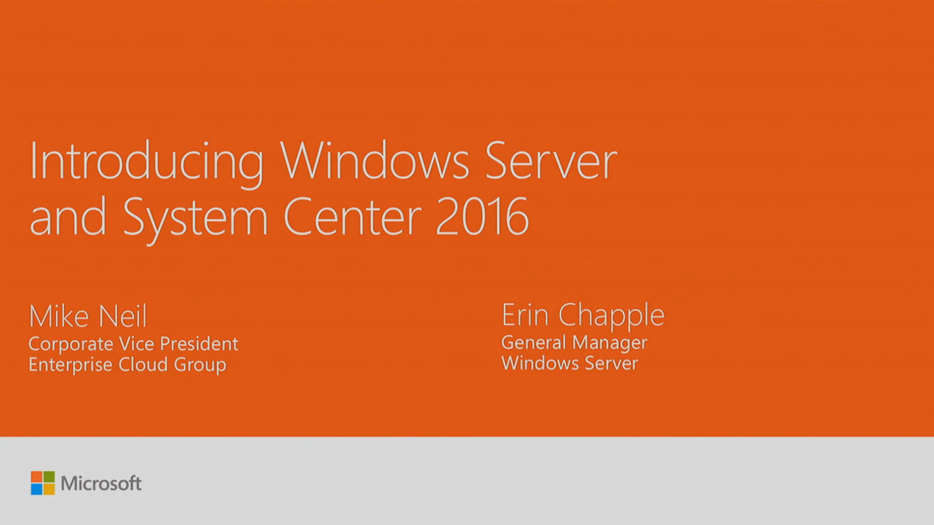 Ignite 2016 – Introducing Windows Server and System Center 2016