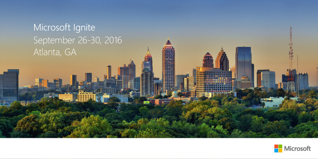 Note: Microsoft Ignite 2016 Keynote