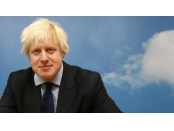The UK's Boris Johnson, up in the clouds.