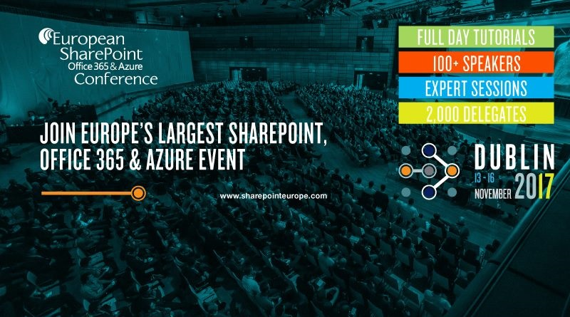 Speaking At European SharePoint, Office 365 & Azure Conference 2017
