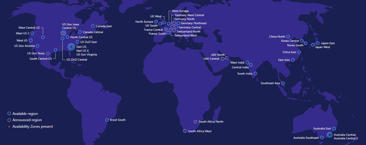 Lots of New Region News in Azure